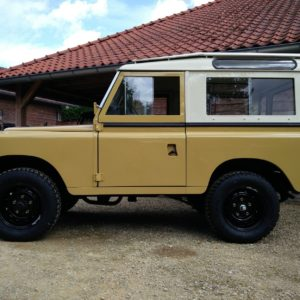1978 LR LHD Santana 88 Hardtop A Mustard Yellow left side