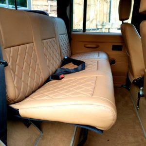 1983 LR LHD Defender 110 V8 A 2nd row 40 60 bench