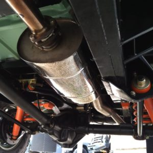 1983 LR LHD Defender 110 V8 A undercarriage SS exhaust