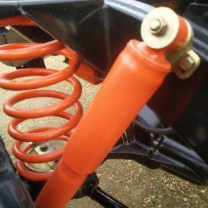 1983 LR LHD Defender 110 V8 rolling frame rear shock and spring