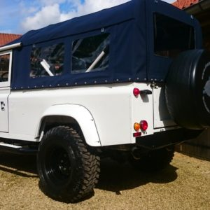 1983 Land Rover Defender 110 LHD Galvy frame White A left rear
