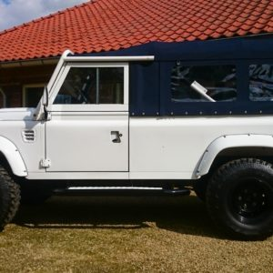 1983 Land Rover Defender 110 LHD Galvy frame White A left side