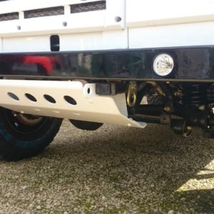 1983 Land Rover Defender 110 LHD Galvy frame White A steering guard