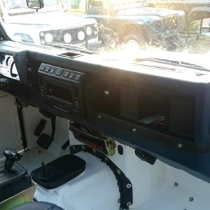 1983 Land Rover Defender 110 LHD Galvy frame White Closed dash and trim right