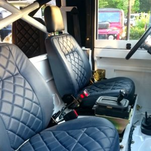 1983 Land Rover Defender 110 LHD Galvy frame White Closed front seats