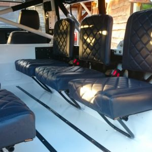1983 Land Rover Defender 110 LHD Galvy frame White Closed jump seats 6