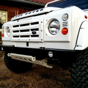 1983 Land Rover Defender 110 LHD Soft Top C grill close