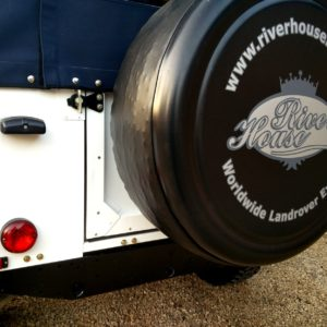 1983 Land Rover Defender 110 LHD Soft Top C taillights and spare