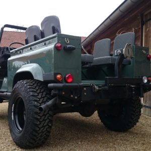 1985 Landrover 90 LHD Truckcab Keswick building day 7 left rear low