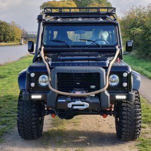 1986 LR LHD 110 SW 3.5 V8 Black A done front