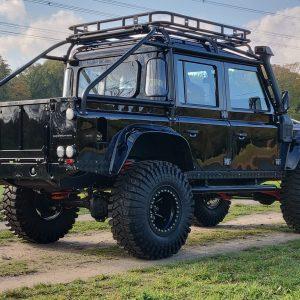 1986 LR LHD 110 SW 3.5 V8 Black A done left rear