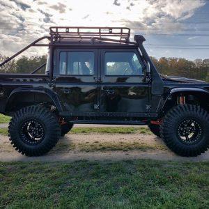 1986 LR LHD 110 SW 3.5 V8 Black A done left side