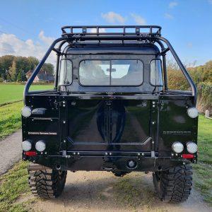 1986 LR LHD 110 SW 3.5 V8 Black A done rear