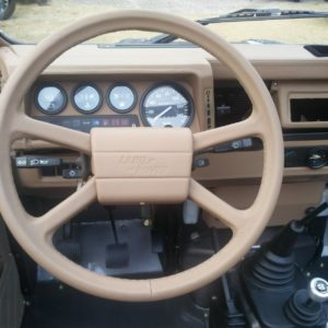1990 LR LHD 110 Tithonus Grey day 25 dashboard rearview