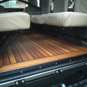 1990 LR LHD 110 Tithonus Grey ready open teak floor with 6 seats