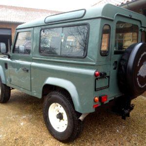 1991 LR LHD Defender 90 Keswick Green Tdi S Wolf left rear