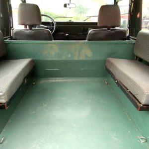 1991 LR LHD Defender 90 Keswick Green Tdi S interior loadfloor