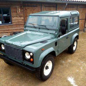 1991 LR LHD Defender 90 Keswick Green Tdi S left front top