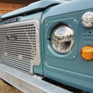 1992 LR LHD 110 Blue 200 tdi day 52 Heritage grill with LED headlights
