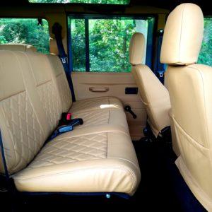 1992 LR LHD 110 Blue 200 tdi day 52 interior 2nd row seats