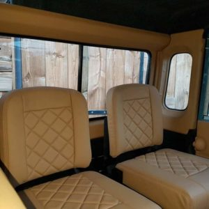 1992 LR LHD 110 Blue 200 tdi day 52 jumpseats in leather with trim panels