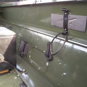1992 LR LHD Defender 90 200 Tdi Eastnor Green interior rear firewall