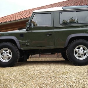 1992 LR LHD Defender 90 200 Tdi Eastnor Green left side low