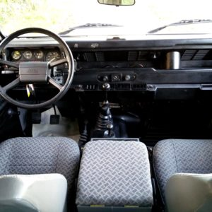 1992 LR LHD Defender 90 200 Tdi Grey B interior dash from rear