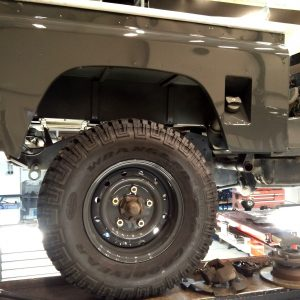 1990 LR LHD D90 V8 AC Heritage Grey day 3 WOLF rims installed