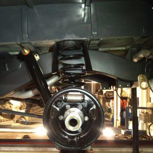 1990 LR LHD D90 V8 AC Heritage Grey day 8 rear suspension LH