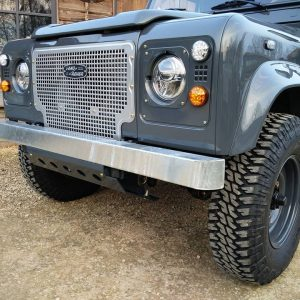 1990 LR LHD D90 V8 AC Heritage Grey ready with top grill close