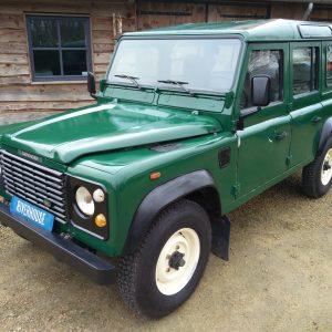 1991 LR LHD 110 5dr 200 Tdi Green left front top
