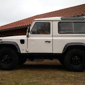 1991 LR LHD Defender 90 S White 200 tdi C left side low
