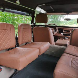 1992 LR LHD 90 200 Tdi Mocca A rear seats