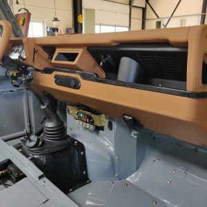 1992 LR LHD Defender 110 Grey day 26 dashboard right