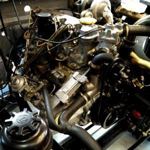 1992 LR LHD Defender 110 Grey day 3 engine bay