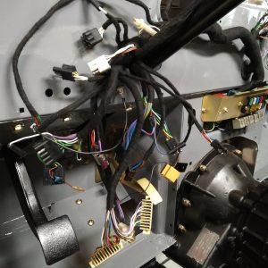 1992 LR LHD Defender 110 Grey day 5 wiring loom installed