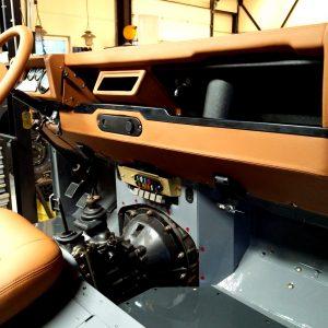 1992 LR LHD Defender 110 Grey day 9 dash ready right rear