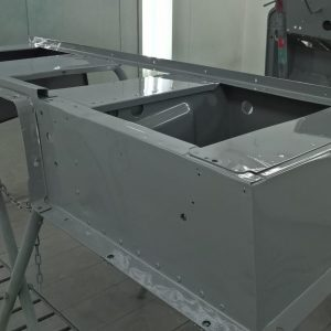 1992 LR LHD Defender 110 panels seatbase in Nardo Grey