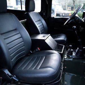 1992 LR LHD Defender 3 dr 200 Tdi A Eastor Green front seats