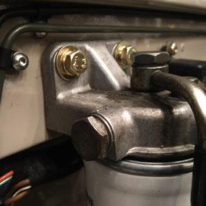 1992 LR LHD Defender 90 200 Tdi Mocc building day 4 bulkhead diesel filter
