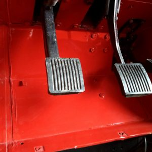 1992 LR LHD Defender 90 Red 200 Tdi A day 1 drivers footwell