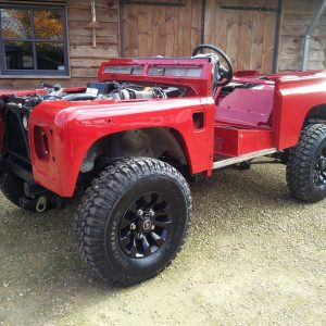 1992 LR LHD Defender 90 Red 200 Tdi A day 1 left front