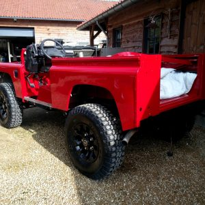 1992 LR LHD Defender 90 Red 200 Tdi A day 1 left rear