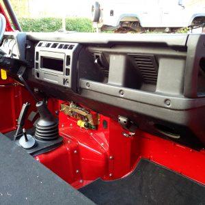 1992 LR LHD Defender 90 Red 200 Tdi A day 10 TD5 dash conversion