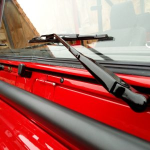 1992 LR LHD Defender 90 Red 200 Tdi A day 15 close wipers