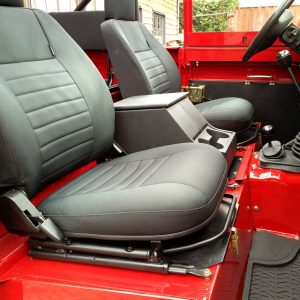 1992 LR LHD Defender 90 Red 200 Tdi A day 15 front seats