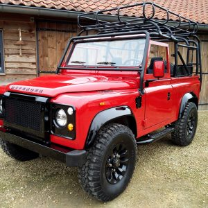 1992 LR LHD Defender 90 Red 200 Tdi A day 15 left front