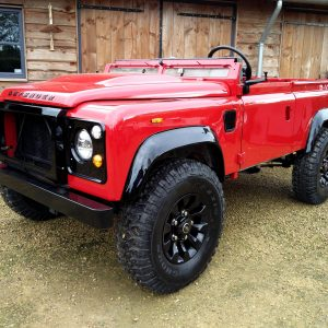 1992 LR LHD Defender 90 Red 200 Tdi A day 6 left front