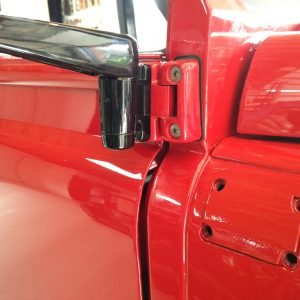 1992 LR LHD Defender 90 Red 200 Tdi A day 6 new dr, hinge and SS bolts